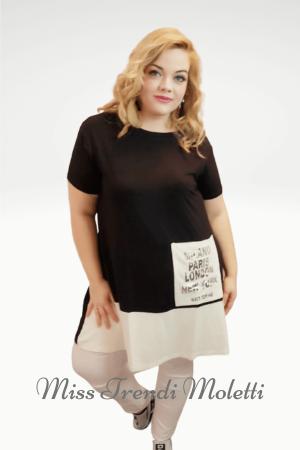 Fekete-fehér molett ruha nagyméret.