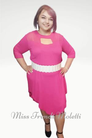 Pink nagyméretű ruha