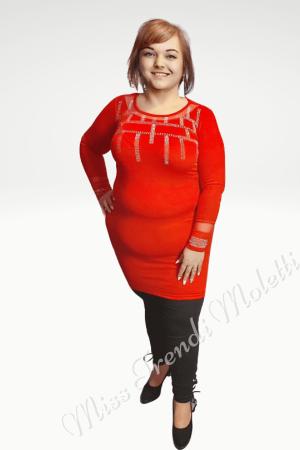 Piros molett alkalmi ruha.